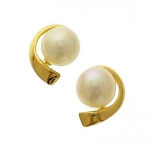 gouden-parel-oorbellen-4-mm