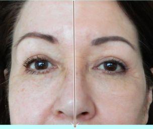 half lov serum foundation op gezicht