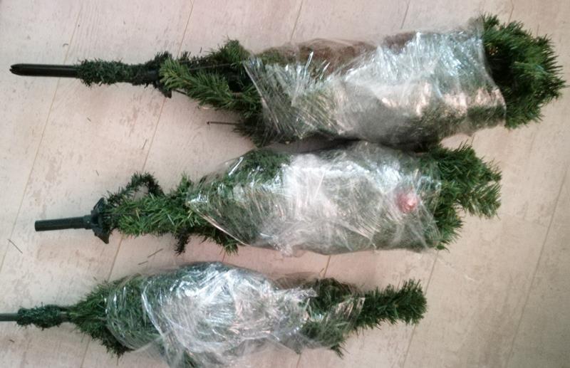 kerstboom in folie