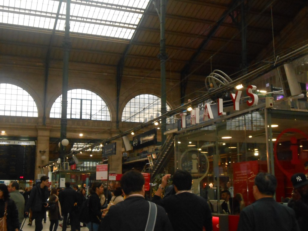 The inside of the Gare du Nord train terminal, where we arrived and left for London from.