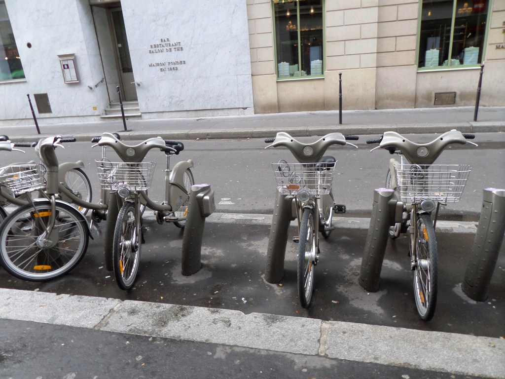 Cute little bicycles outside Laduree <3333