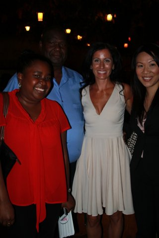 L-R: Me (duh), my father, Lisa Genova (beautiful!), our friend Candace (also GORGEOUS!!).