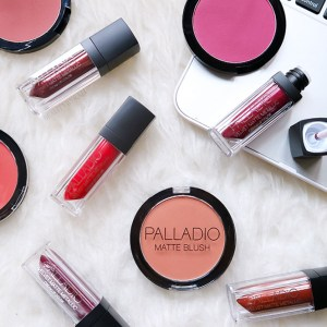 palladio beauty matte blush and velvet matte lipstick review and swatches