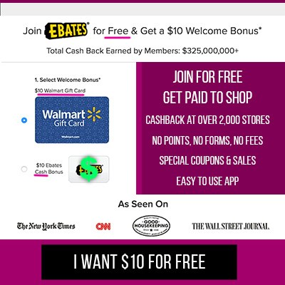 Ebates Coupons and Cash Back