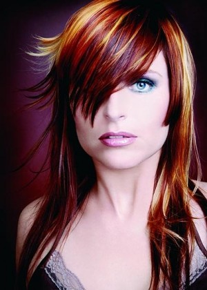 trendy-red-highlighted-hair
