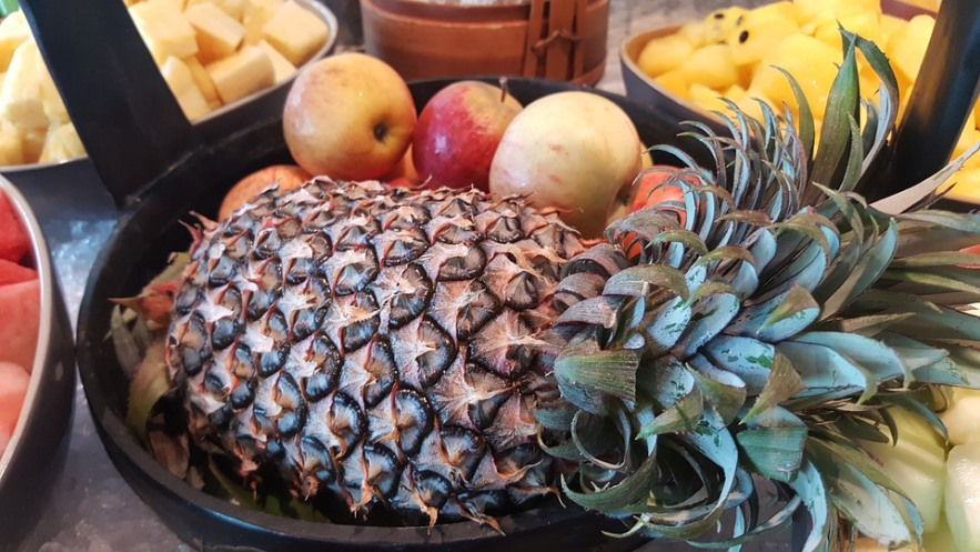 Pineapple and Fruits in Bowl Pixibay Image