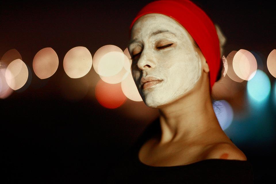 Woman Wearing Acne Fighting DIY Facial Mask