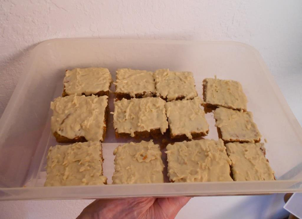 Carrot Bars with Molasses-Coconut Frosting