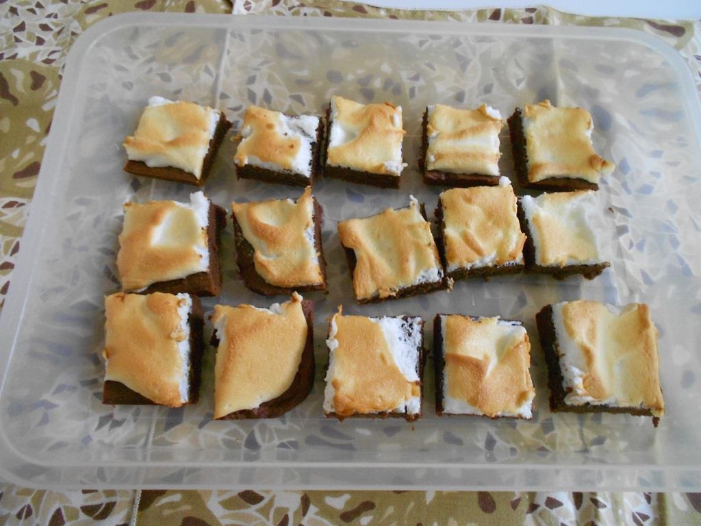 Cocoa-Meringue Bars Are Dark Richness - Beauty Cooks Kisses