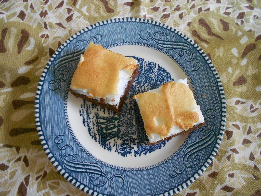 Cocoa-Meringue Bars Are Dark Richness on plate