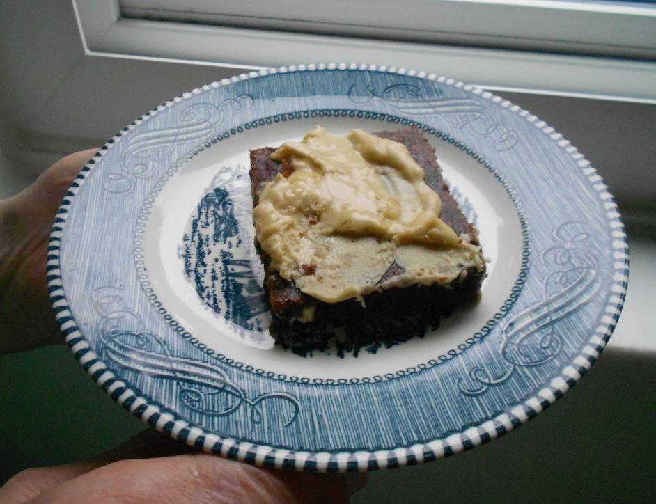 Double Chocolate-MInt Bars With Peanut Frosting