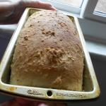 Oatmeal Batter Bread in pan