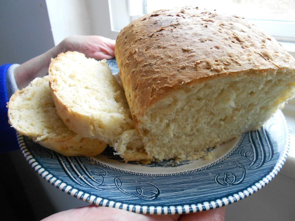 Oatmeal Batter Bread up close