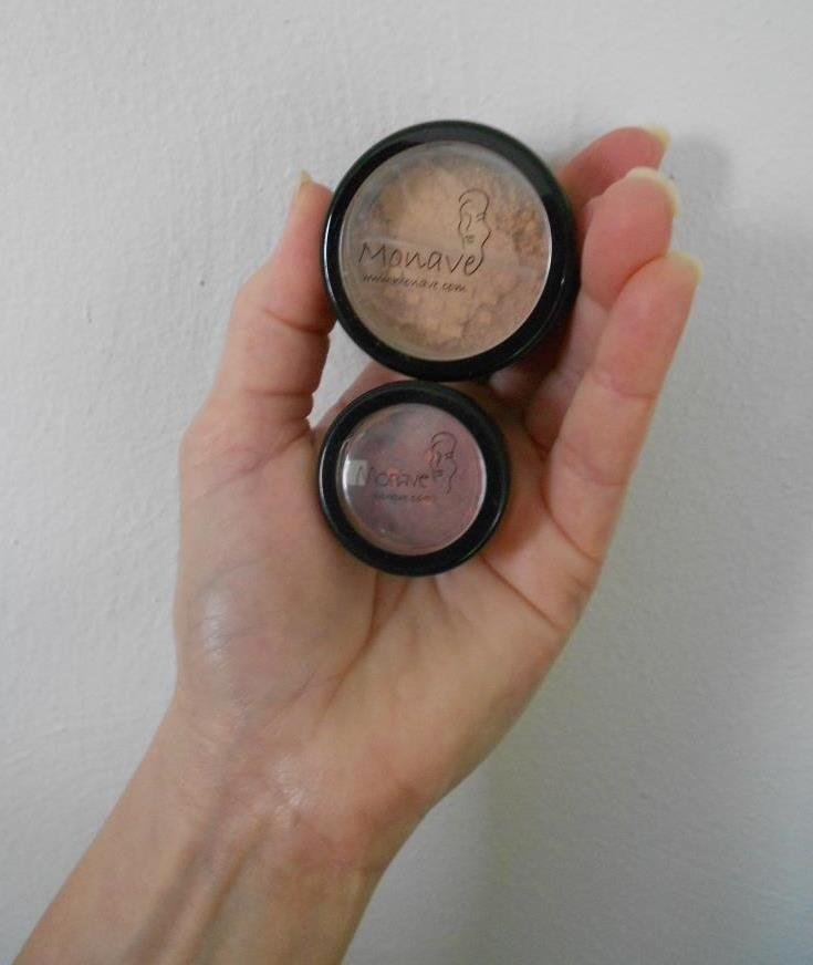 Monave Mineral Makeup Foundation and Blush