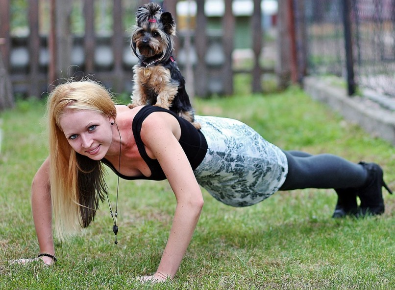 Woman With Workout Buddy