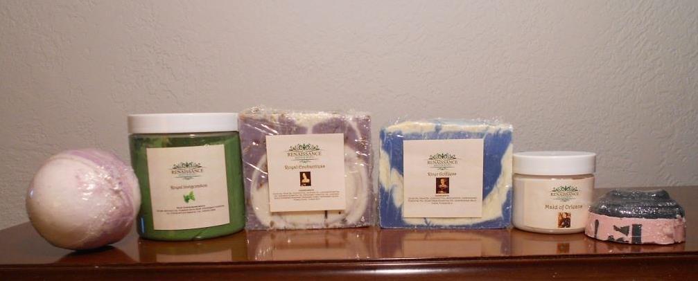 Renaissance Bath Subscription Box, unboxed