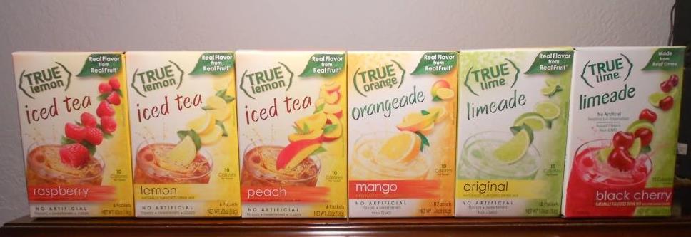 True Citrus Iced Teas, Orangeade, Limeades