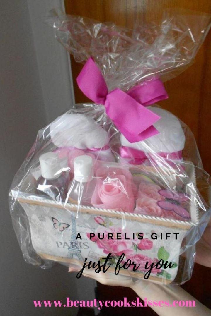 Purelis Deluxe Flower Garden Spa Basket gift