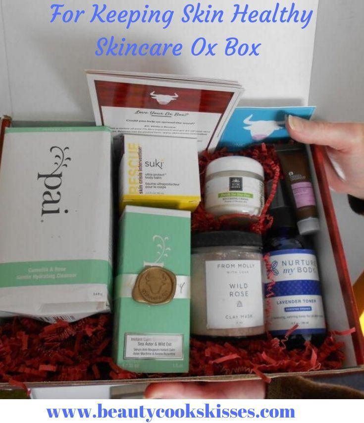 Skincare Ox Box Fall 2019 blue