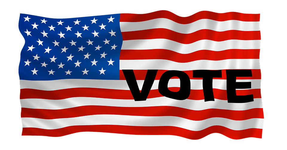 vote and usa flag