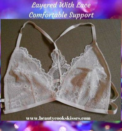 Layered With Lace Bralette Comfortable Support