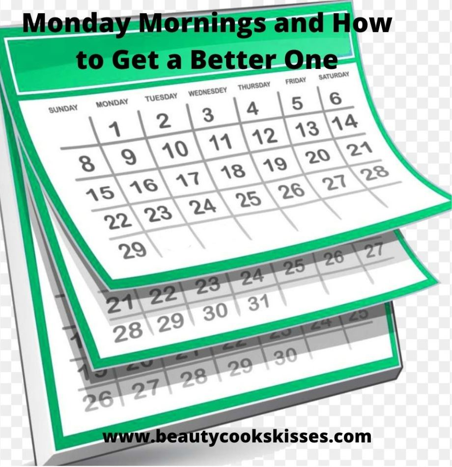 Monday mornings Calendar