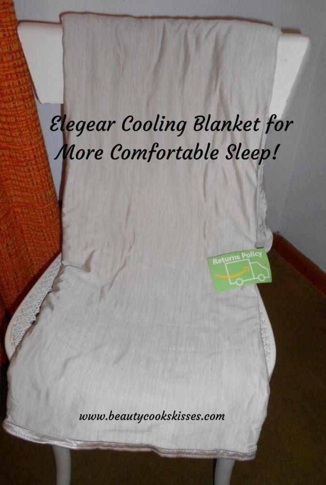 Elegear Cooling Blanket on chair