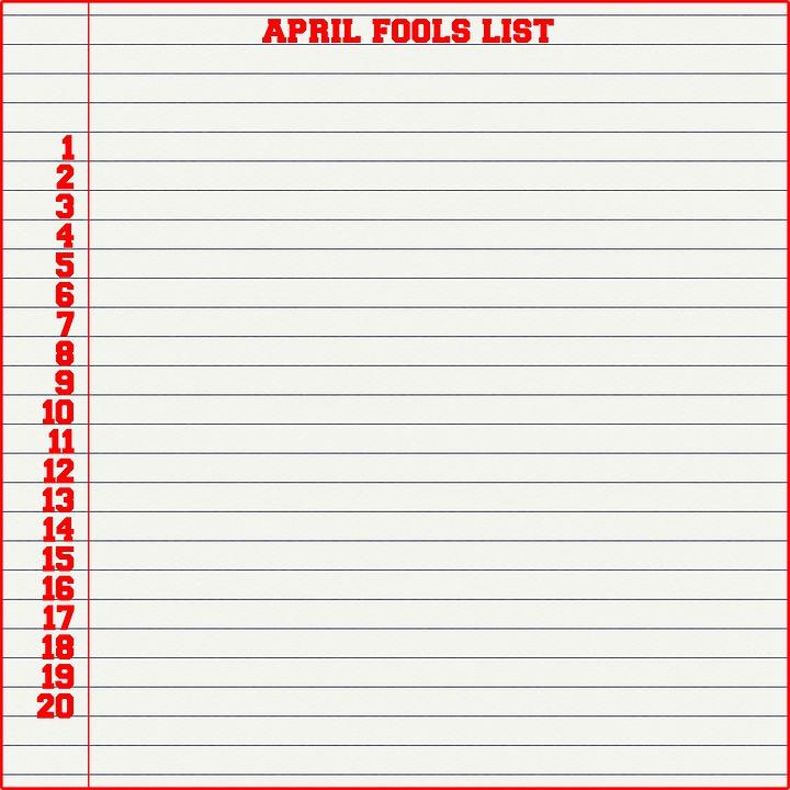 April Fools Day List