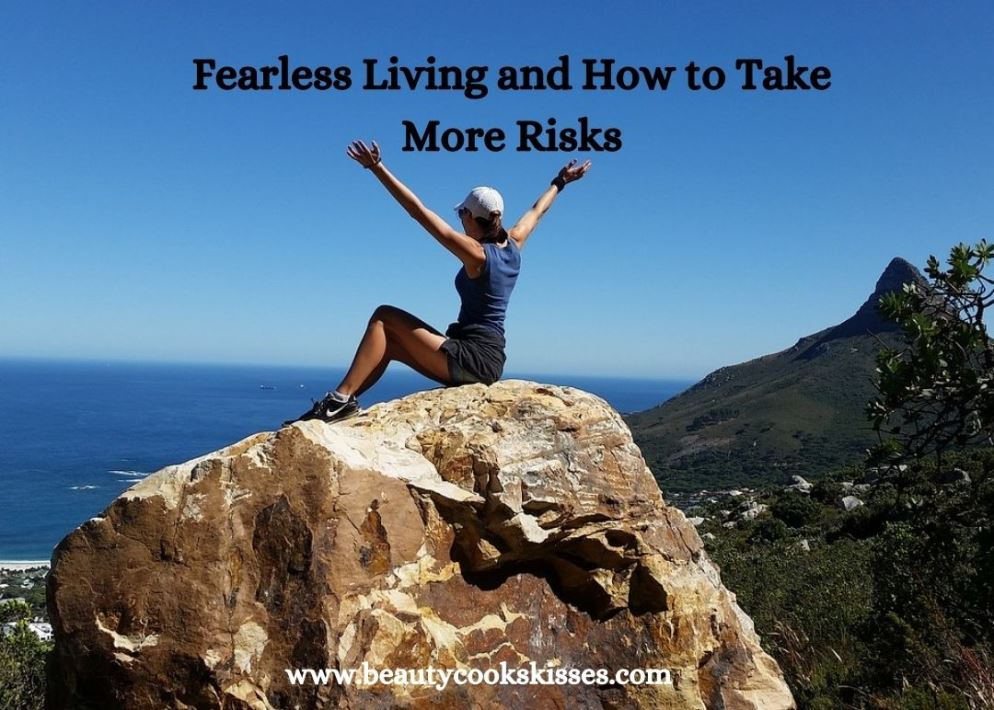 Fearless Living Woman on Mountain Top