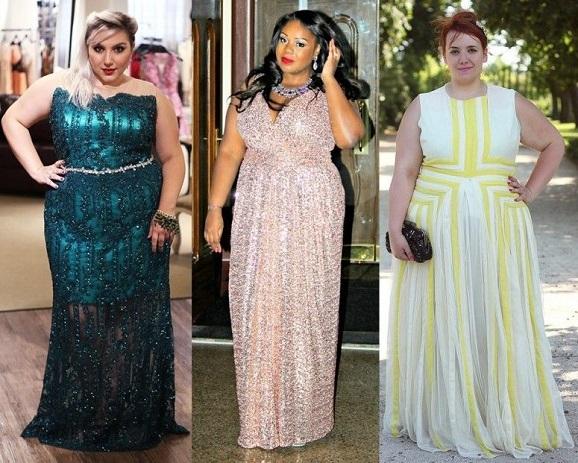 vestido longo para gordinha - Moda Festa para Gordinhas   Roupas para Festas