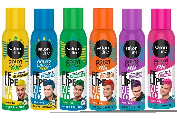 Felipe Neto lança Sprays Coloridos