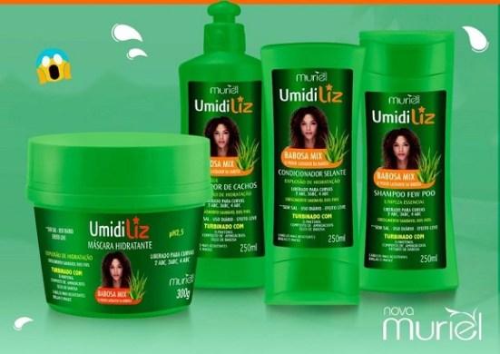 Conheça a Linha Umidiliz Babosa Mix da Nova Muriel