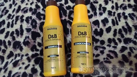 Dolce & Banana Glatten: Kit Shampoo e Condicionador