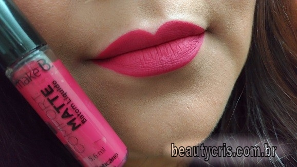 Batom Comfort Matte Scarlet Pink resenha