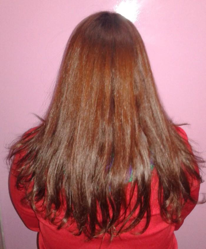 Resultado nos meus cabelos