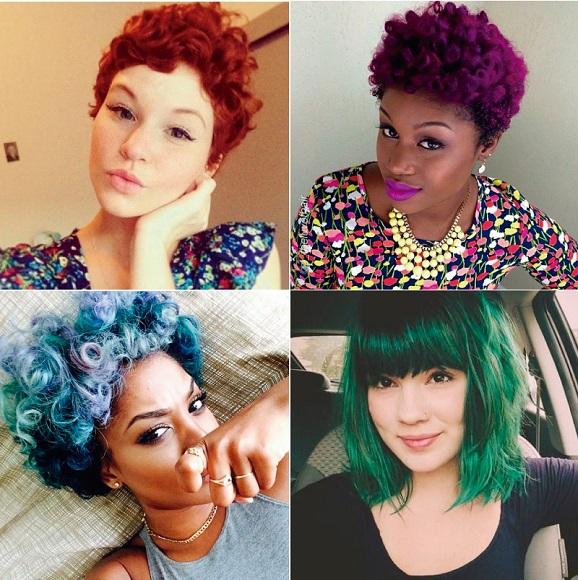 cabelos curtos coloridos- BeautyCris