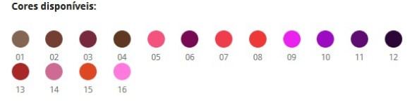 cores disponiveis Ramona