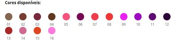 cores-disponiveis-Ramona Conheça o Batom líquido da Ramona Cosméticos
