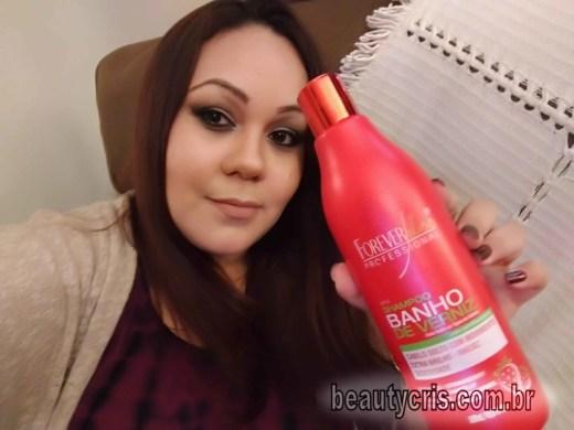 Resenha do Shampoo Banho de Verniz Morango da Forever Liss