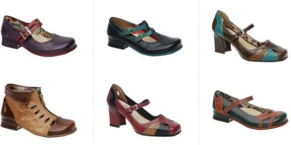 Coleção de Sapatos Feminino Retrô