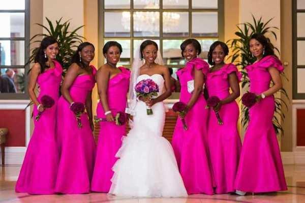 vestido para madrinhas de casamento rosa pink