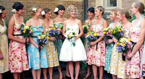 vestidos estampados para madrinhas