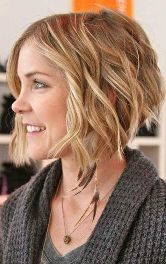 Curly Angled Bob Haircut The Best Haircut Of 2018