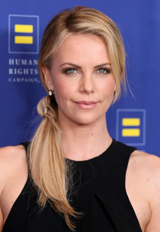 Charlize Theron's Long Ponytail Hairstyle