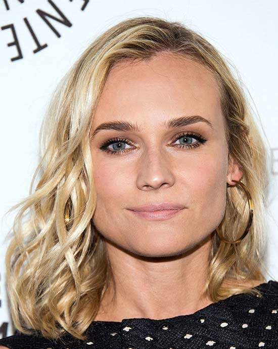 Diane Kruger Medium Blonde Hairstyles