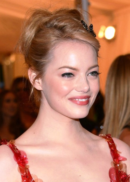 Emma Stone Formal Updo