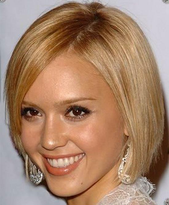 Jessica Alba Medium Blonde Hairstyles