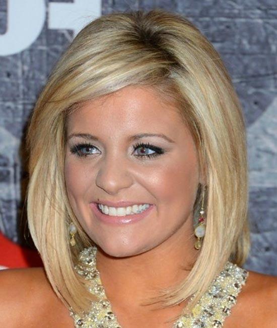 Lauren Alaina Sassy Bob Haircuts for Round Faces