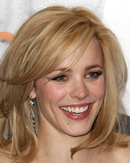 Rachel McAdams Medium Length Haircuts for Thick Hair