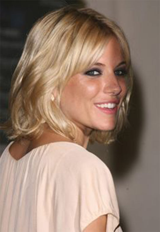 Sienna Miller Long Bob Hairstyles